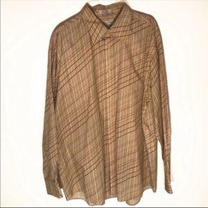 Eighty eight long sleeve tan button down shirt XXL
